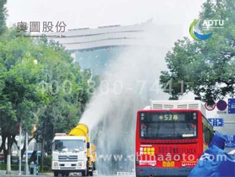 喷雾降尘车喷雾作业